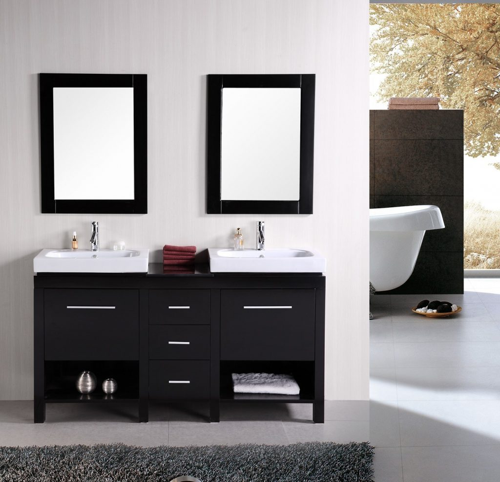 Cosmopolitan Design Element New York Espresso Bathroom Vanityset