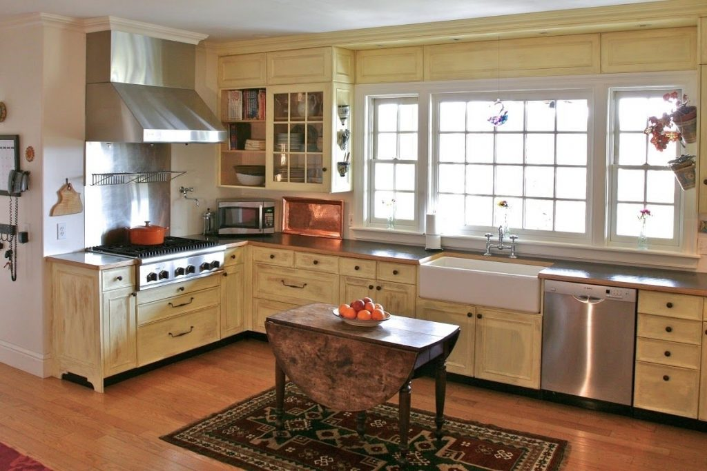 Countertops Backsplash White English Country Kitchens Designs