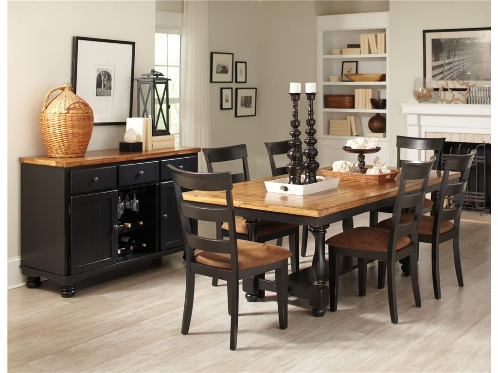 Country Style Dining Room Sets With Black Painted Dining Country