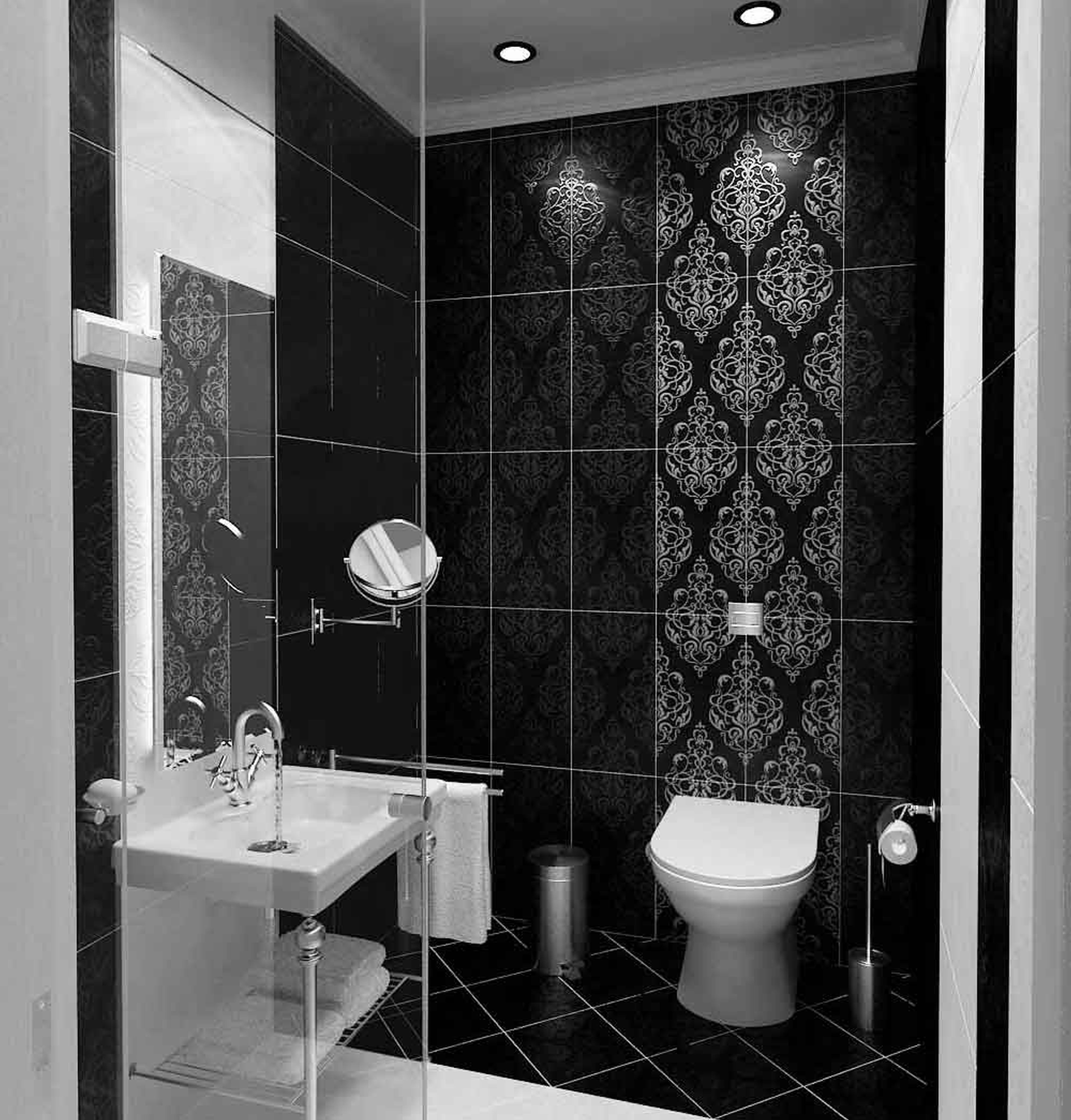 Cute Black And White Bathroom Ideas The