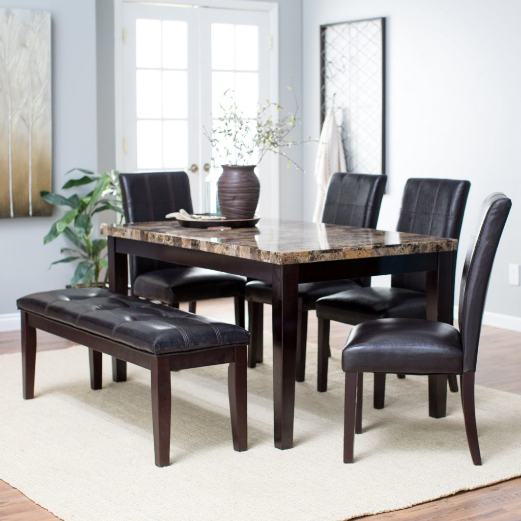 Cute Dining Set With Bench 1 Room Sets Tables Pertaining To Pictures