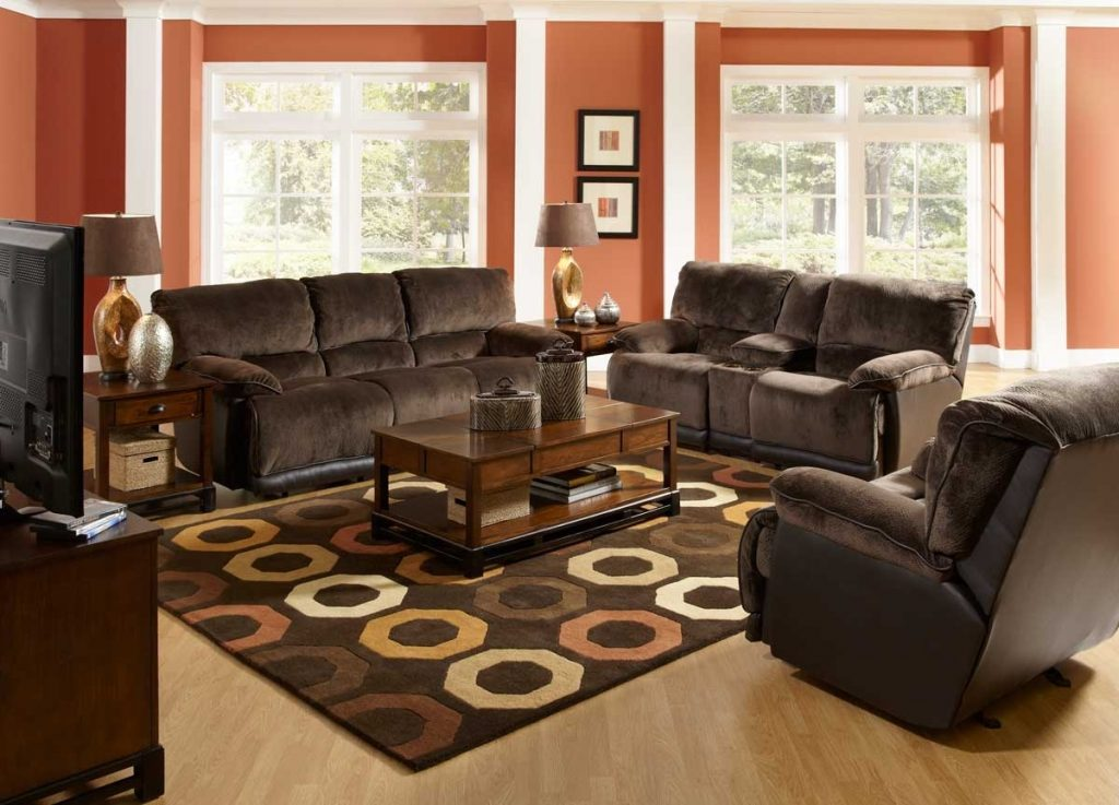 Dark Brown Couch Living Room Ideas For Dark Brown Sofa Pattern