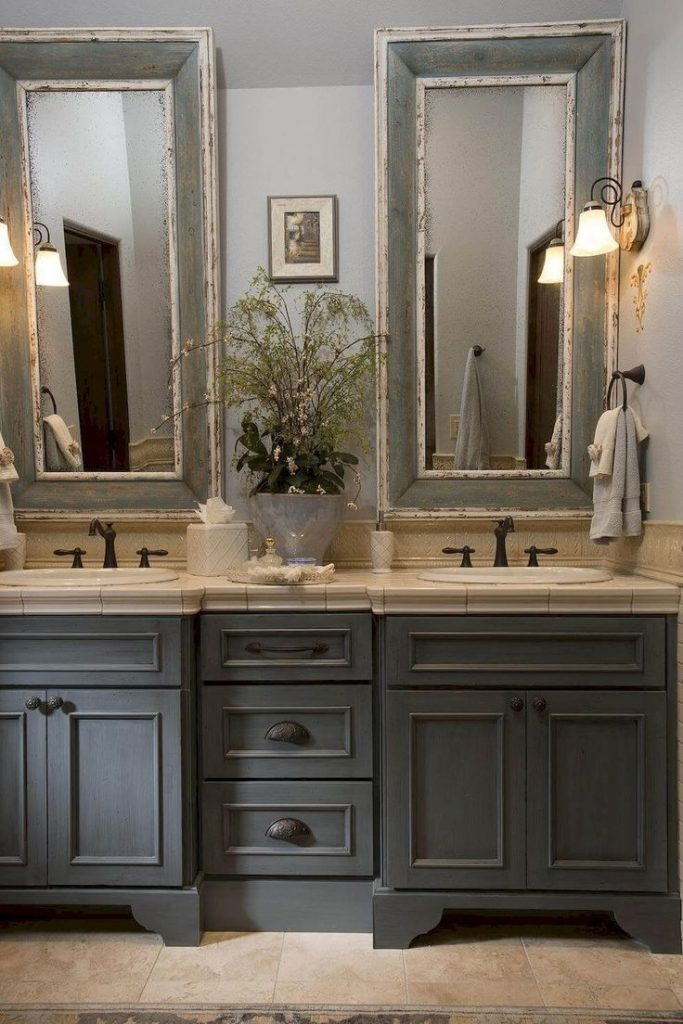 Dark Grey Bathroom Bathroom Pinterest Rustic Farmhouse
