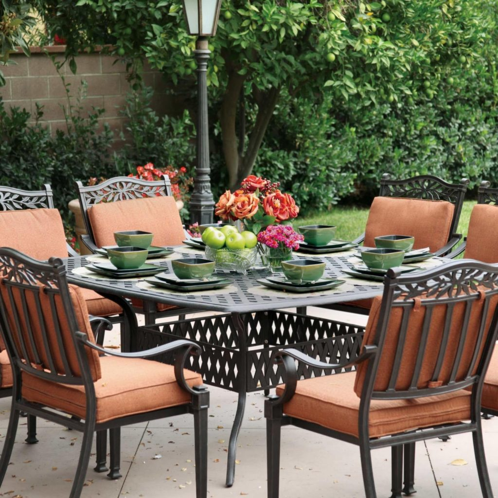 Darlee Charleston 9 Piece Cast Aluminum Patio Dining Set Ultimate