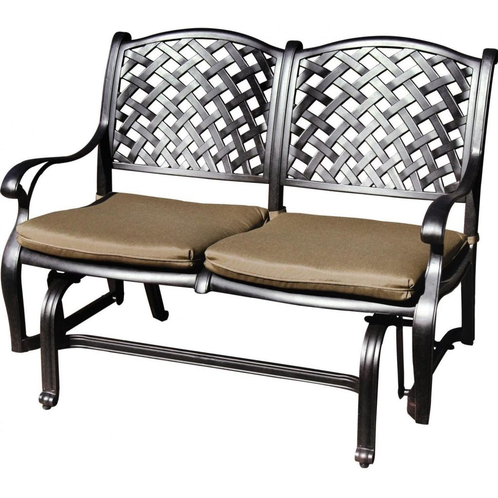 Darlee Nassau Cast Aluminum Patio Bench Glider