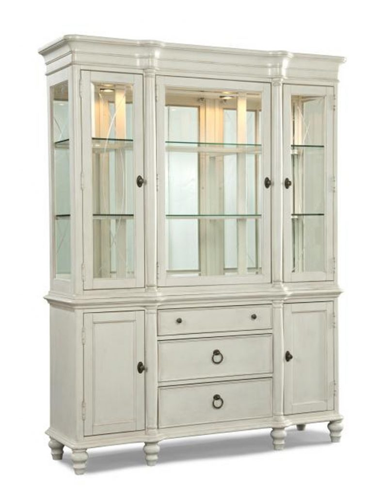 Dated Looking Hutch Cabinet Painted White White Dining Room Hutch