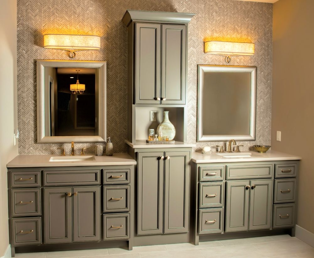Decorating Bathroom Vanities With Two Sinks Cabinets 67 Inch 48