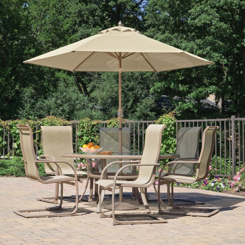 Decorating Patio Furniture With Umbrella Life On The Move
