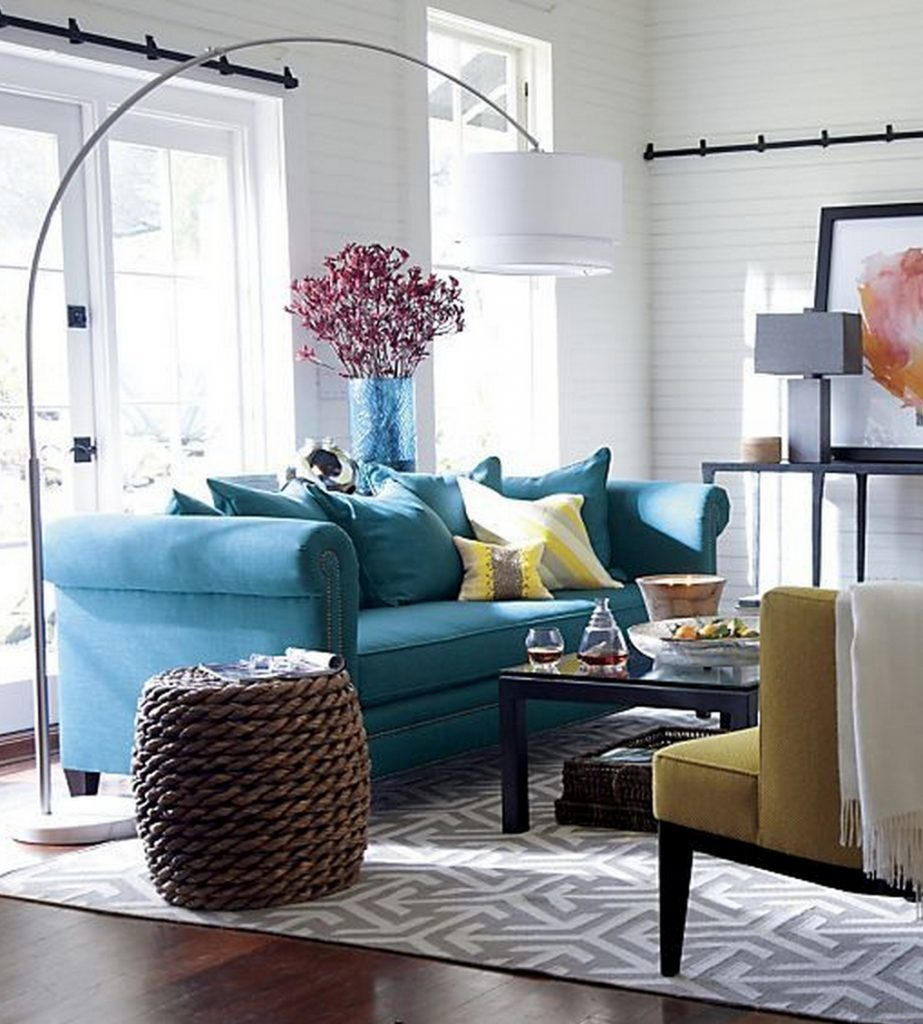 Decoration Teal And Grey Living Room Staggering Gray Yellow Color