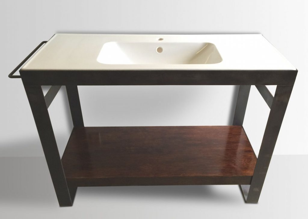 Denver Colorado Industrial Modern Bathroom Vanity Washstand Sink