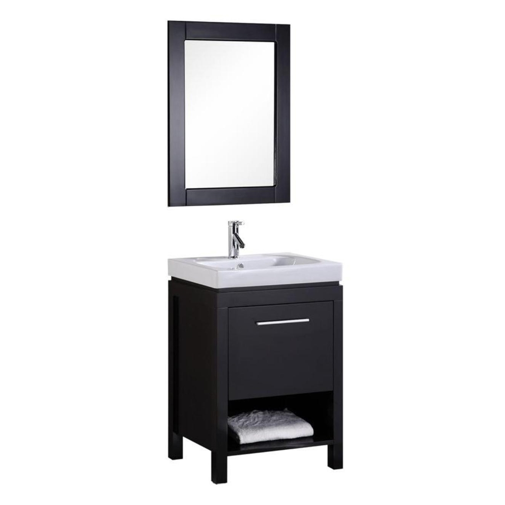 Design Element New York 24 In Single Sink Bathroom Vanity Lowes