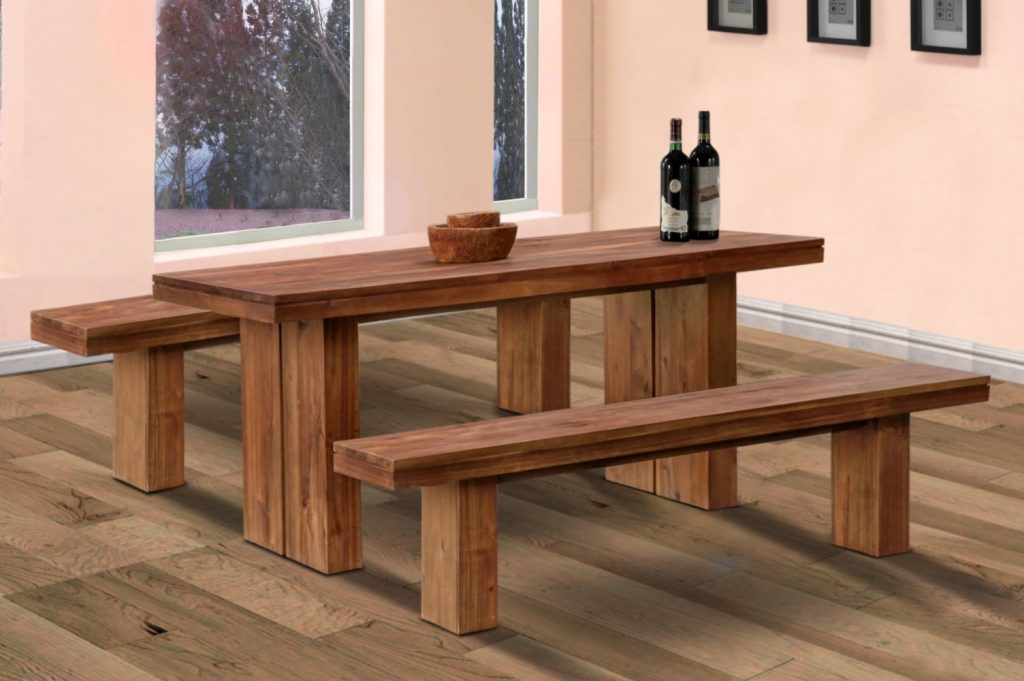 Dining Bench Cushion Simple Minimalist Tables With Benches Wooden