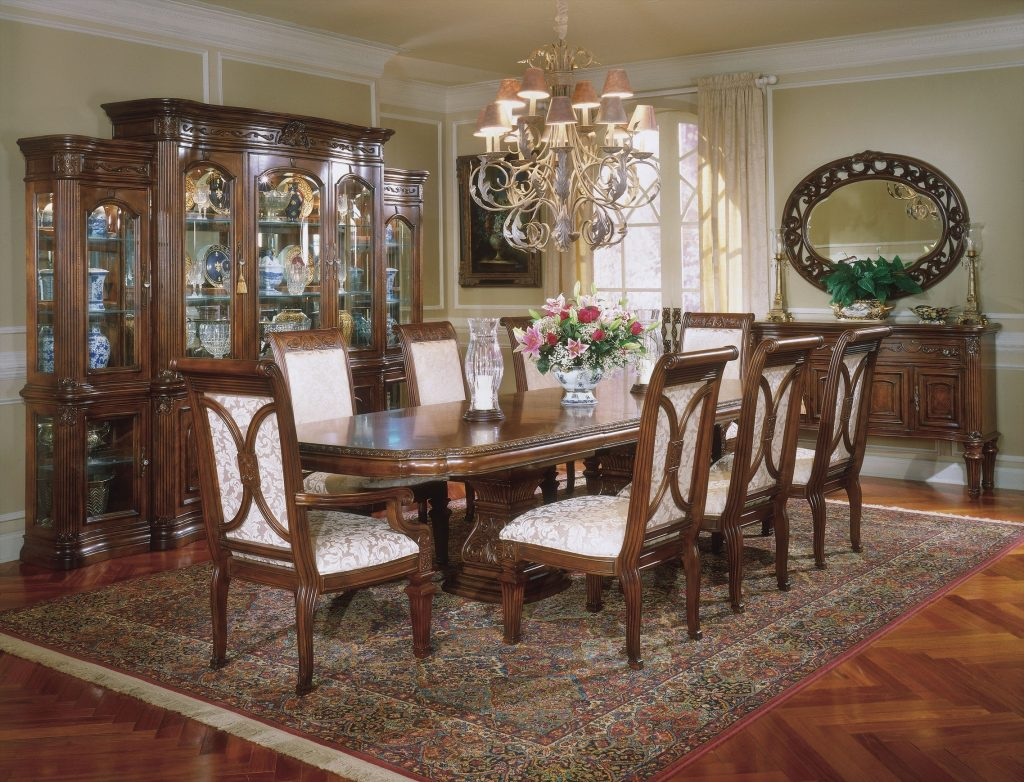 Dining Room A Fancy Traditional Dining Room Sets With Wooden From