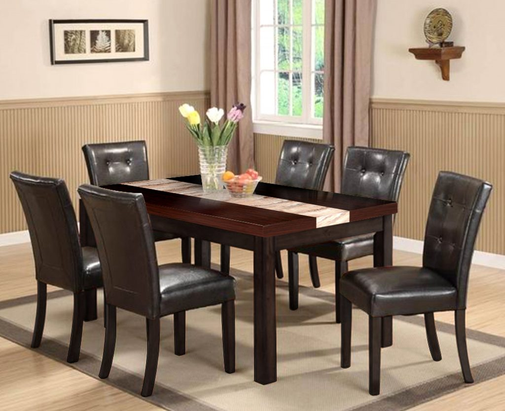 Dining Room Chair Large Round Dining Table Seats 8 Black Glass