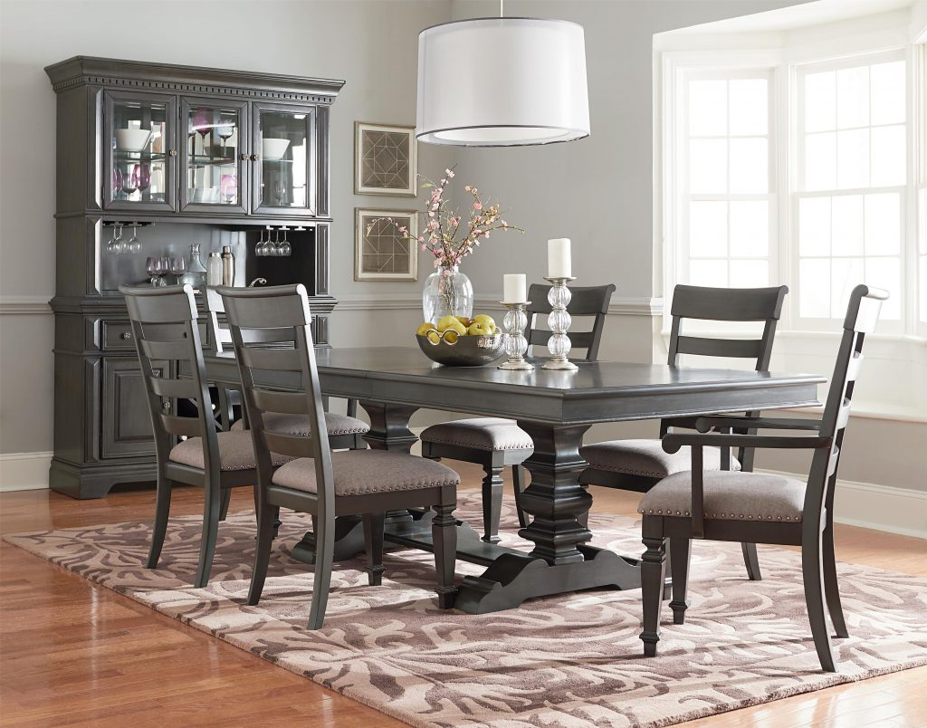 Dining Room Group With Trestle Table Standard Furniture Wolf