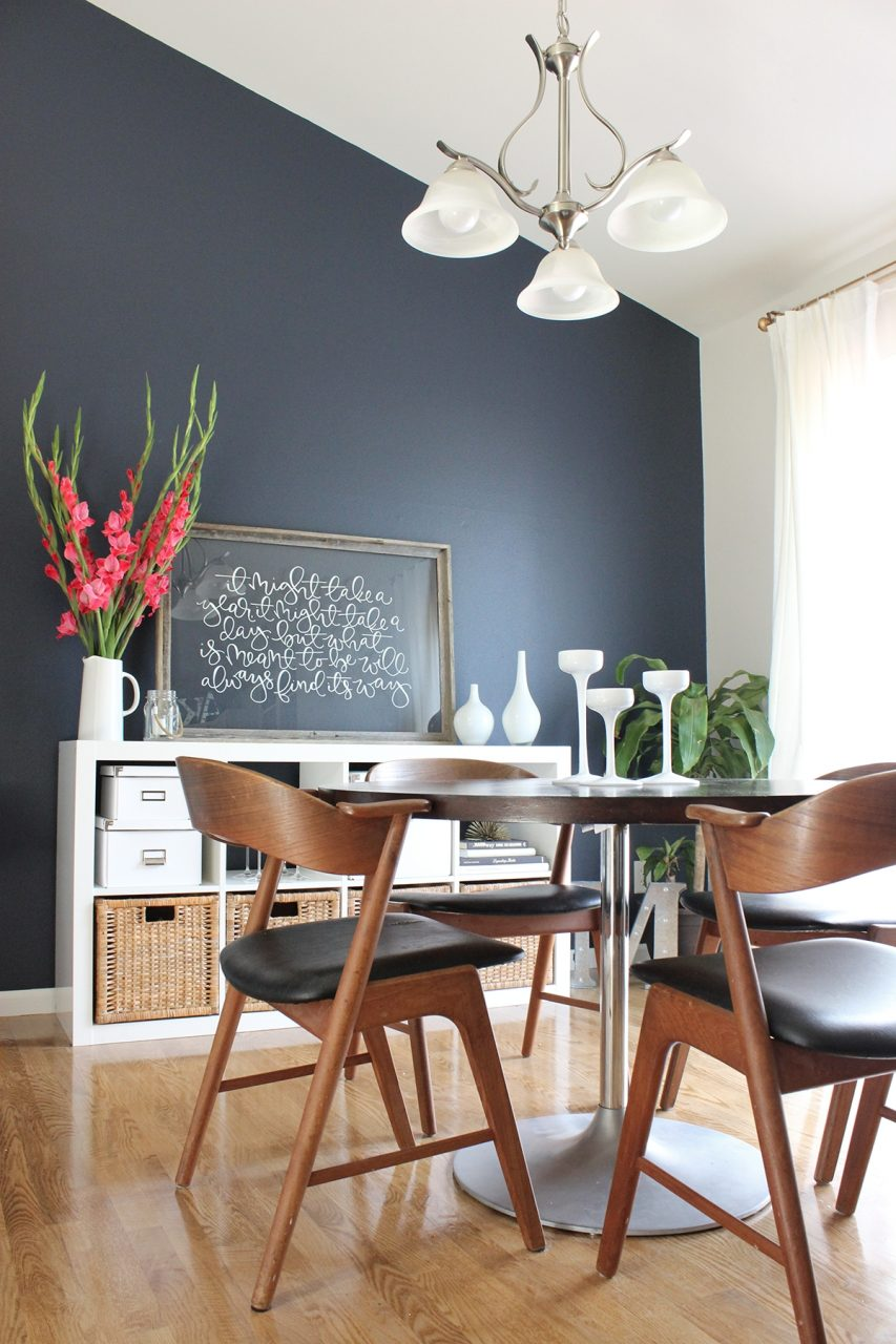 Dining Room Makeover Aparment Ideas Pinterest Navy Accent