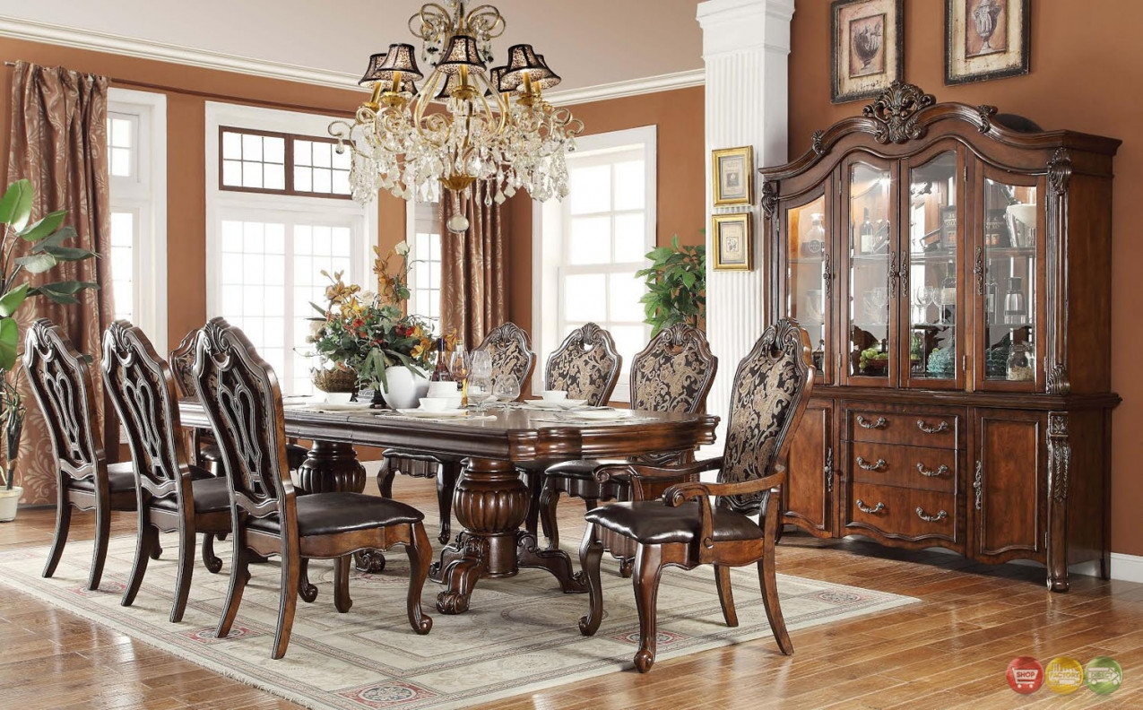 Dining Room Sets Traditional Style Marceladick In Dining Table Set