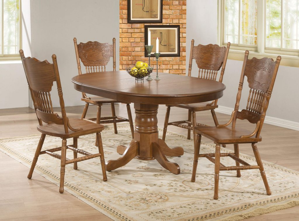 Dining Room Table And 8 Chairs White Oak Set Khalkos