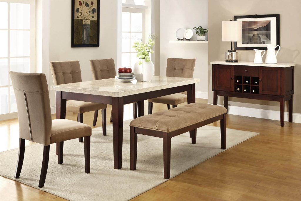 Dining Room Table Bench And Chairs Bluehawkboosters Home Design