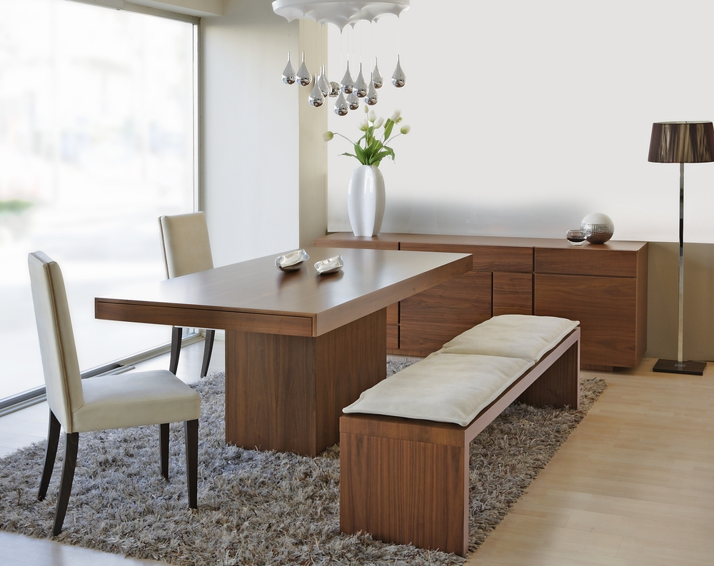 Dining Room Table With Bench Seat Homesfeed Regard To Set Ideas 1