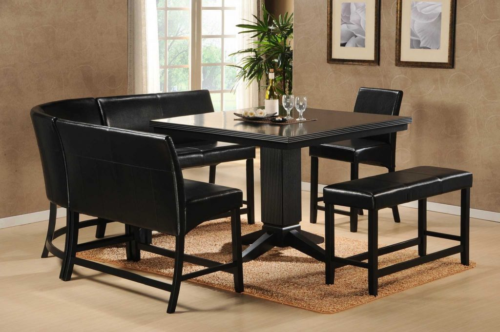 Dining Room Tall Dining Room Table Black Chairs With Casual