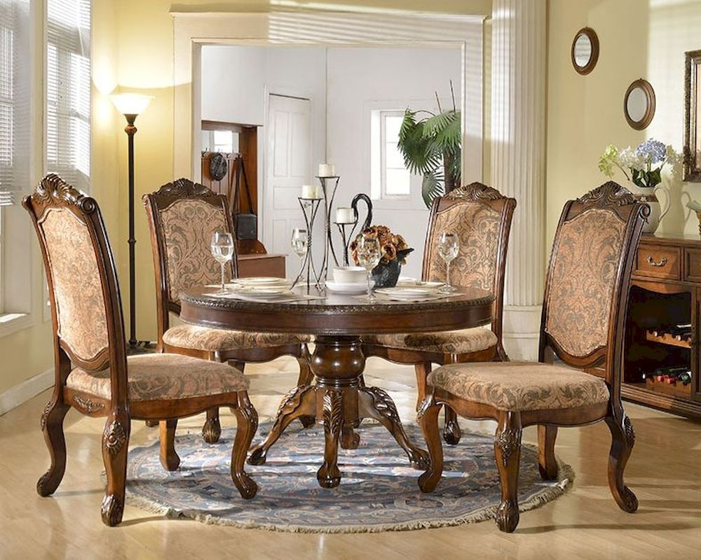 Dining Set W Round Dining Table In Traditional Style Mcfd8500 R