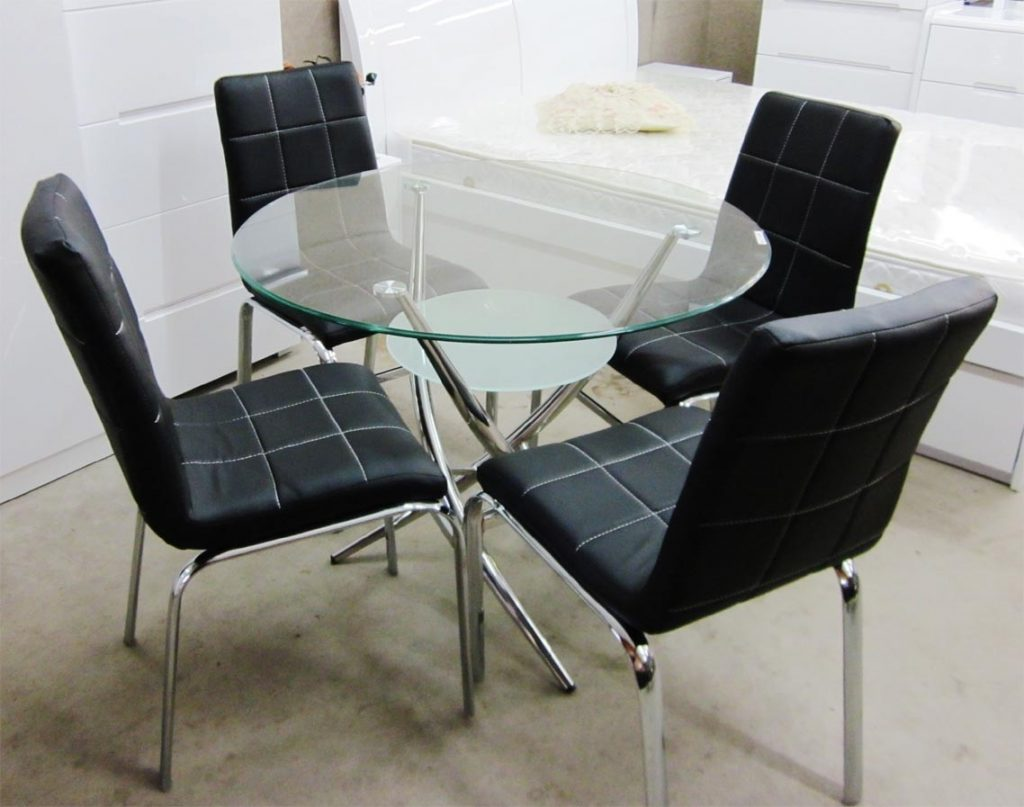 Dining Table Set Deals New At Luxury Amusing Silver Round Modern
