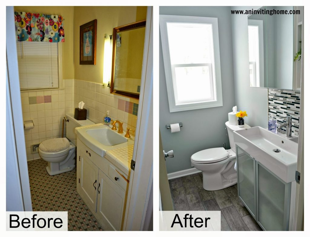 Diy Bathroom Remodel Before And After Home Interior Design Makeover