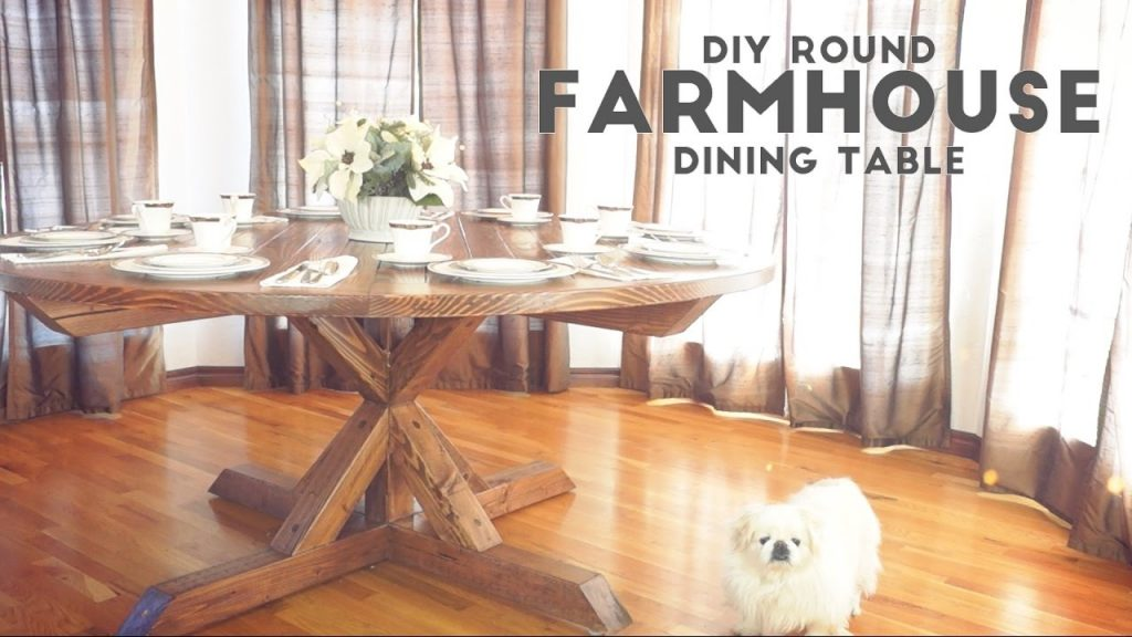 Diy Round Farmhouse Dining Table Modern Builds Ep 52 Youtube