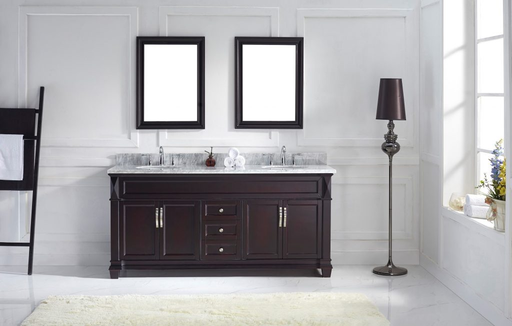 Double Bathroom Vanities With Towers Lindsay Decor Utilizing