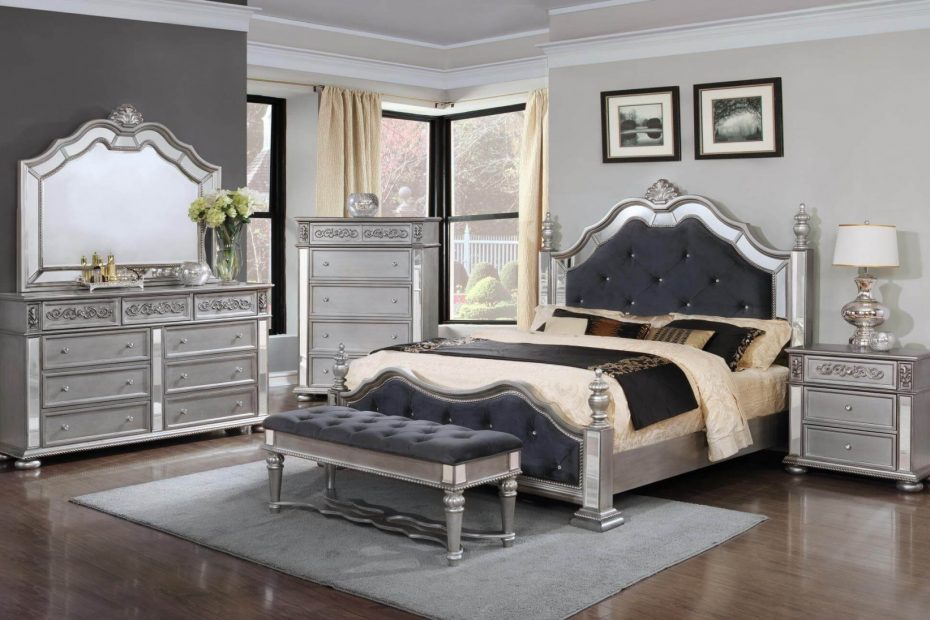 Elegant Silver Bedroom Set Bedroom Furniture Sets With Bedroom