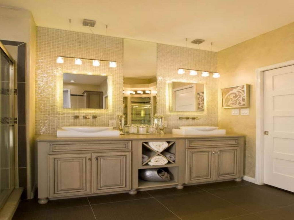 Endearing Bathroom Lighting Ideas Light Fixtures Large Vanity Home