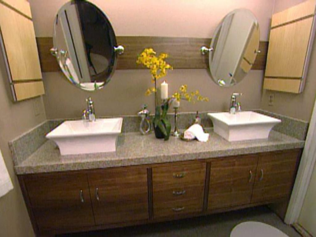 Enthralling How To Build A Master Bathroom Vanity Hgtv In Cabinet