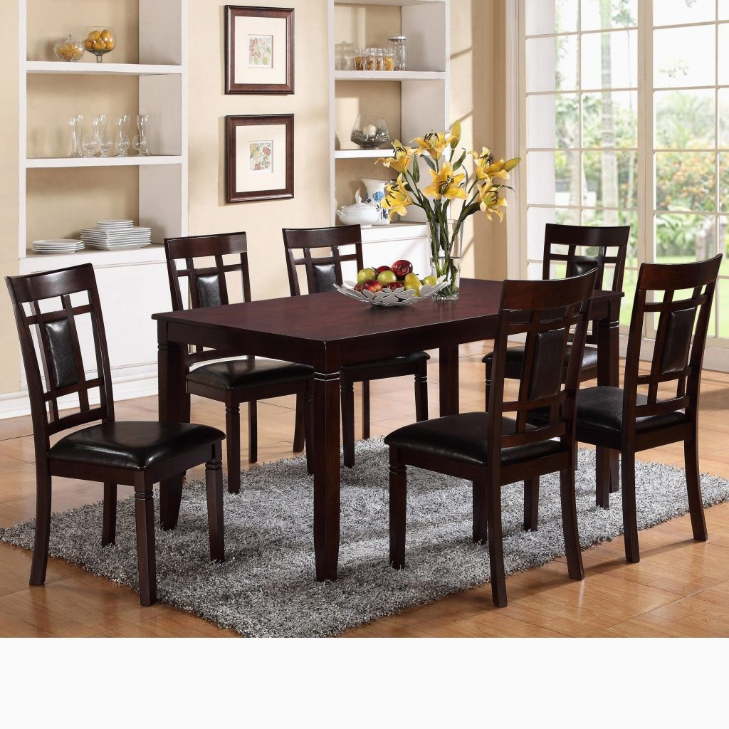 Espresso Dining Room Table Expert 7 Piece Round Dining Set 7 Piece