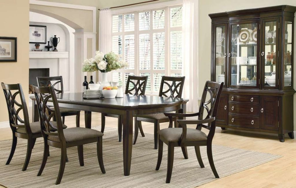 Espresso Dining Room Table Meredith Casual Espresso Dining Room Set