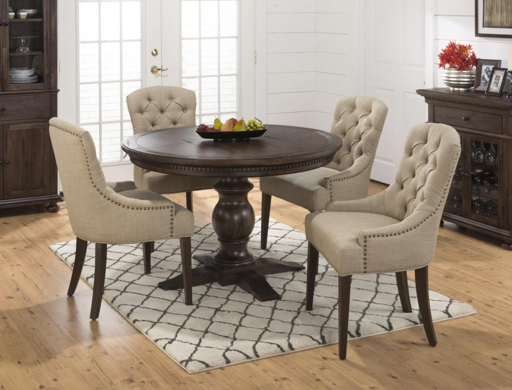 Evelyn 5 Piece Dining Table And Upholstered Chair Set Rotmans