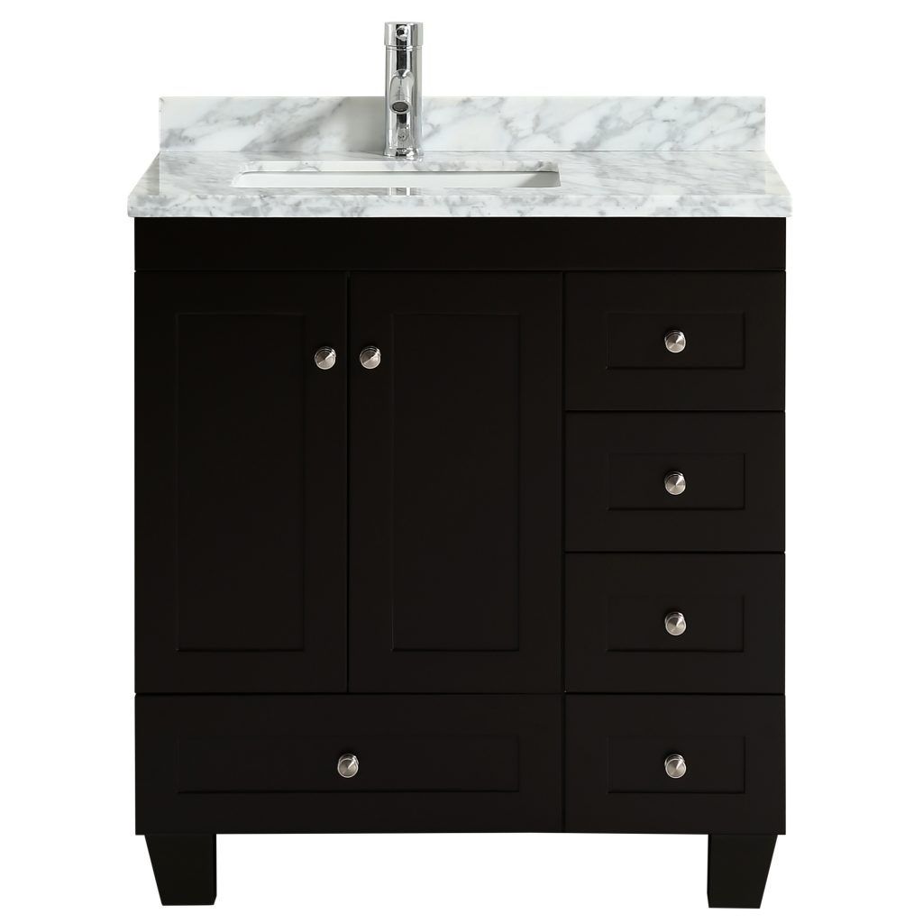 Eviva Happy 30 X 18 Transitional Espresso Bathroom Vanity With