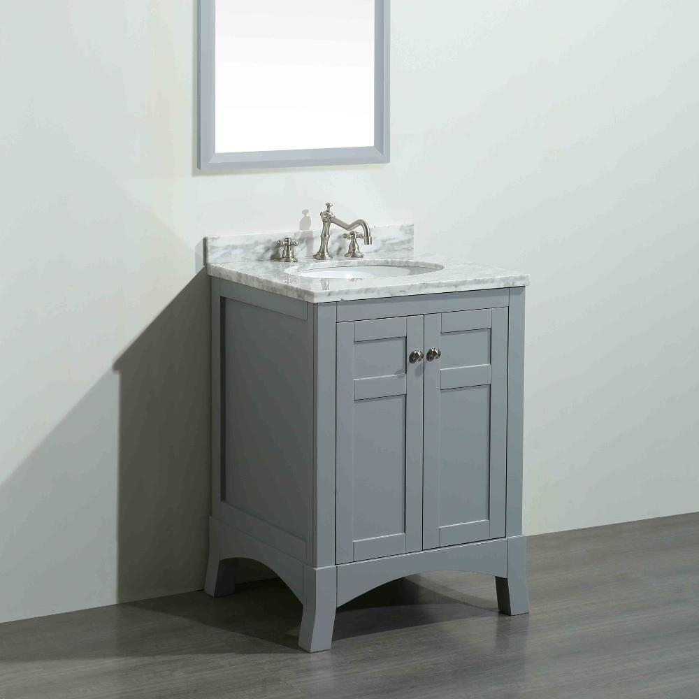 Eviva New York 24 In W X 216 In D X 326 In H Vanity In Grey