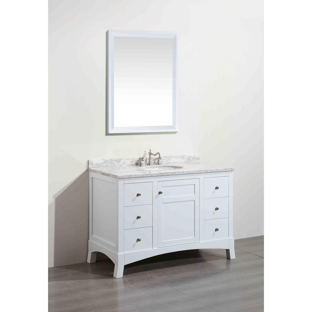 Eviva New York 42 In W X 216 In D X 326 In H Vanity In White