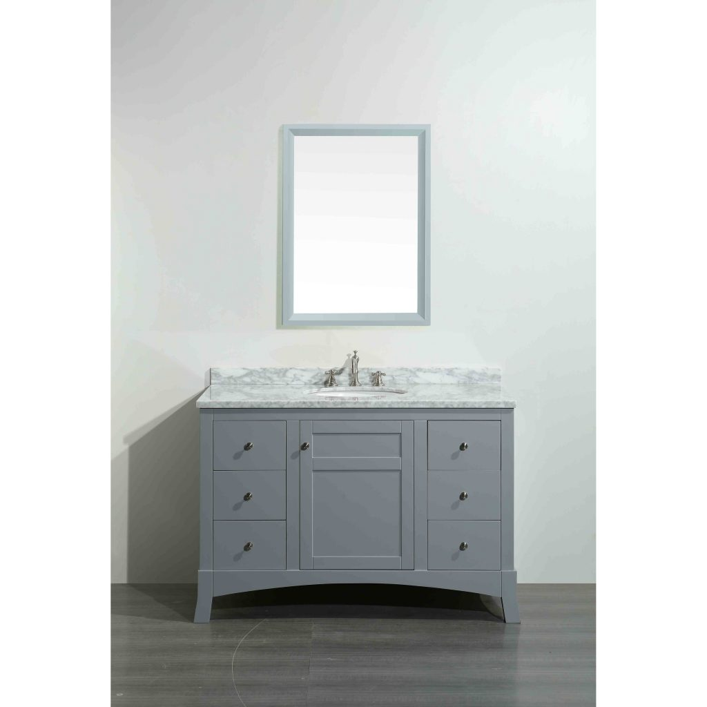 Eviva New York Grey Wood Marble 42 Inch Bathroom Vanity 42 Inch