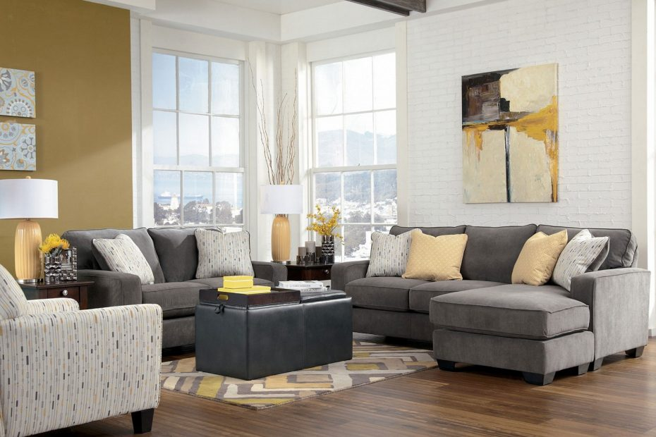 Living Room Grey Couch Layjao