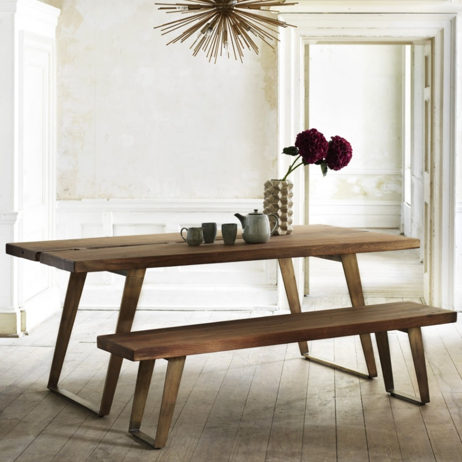 Fabulous Dining Table Bench 3 Griffin Reclaimed Wood O Rechtachteruit