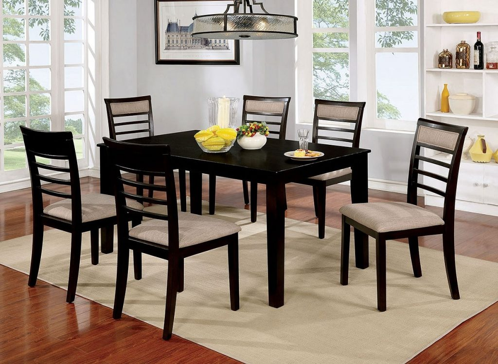 Fafnir 7 Piece Dining Room Set Espresso Formal Dining Sets