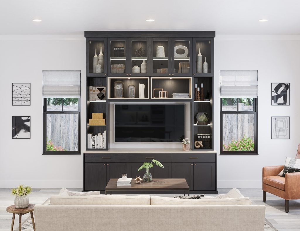 Family Room Storage Living Room Design Ideas California Closets