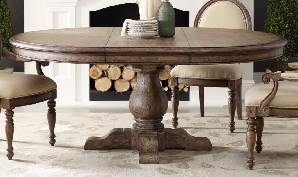 Fancy 48 Inch Round Expandable Dining Table 2 Mesmerizing 5 Pedestal