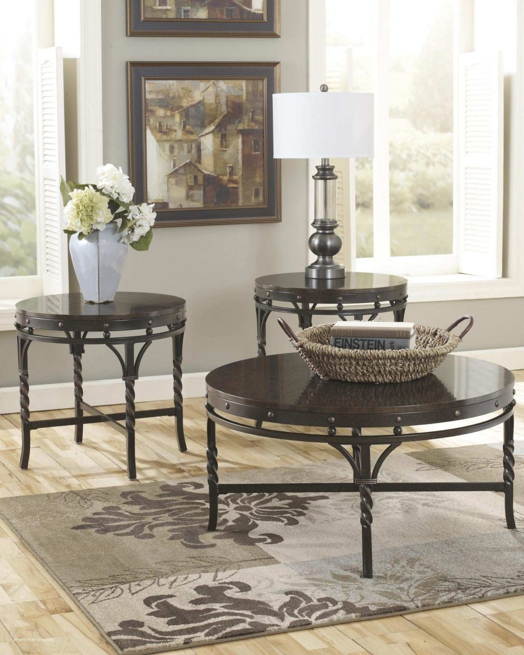 Fancy Round Living Room End Tables Amentinteriors