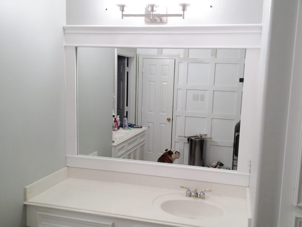 Framed White Bathroom Mirror Lindsay Decor Look Fairly White