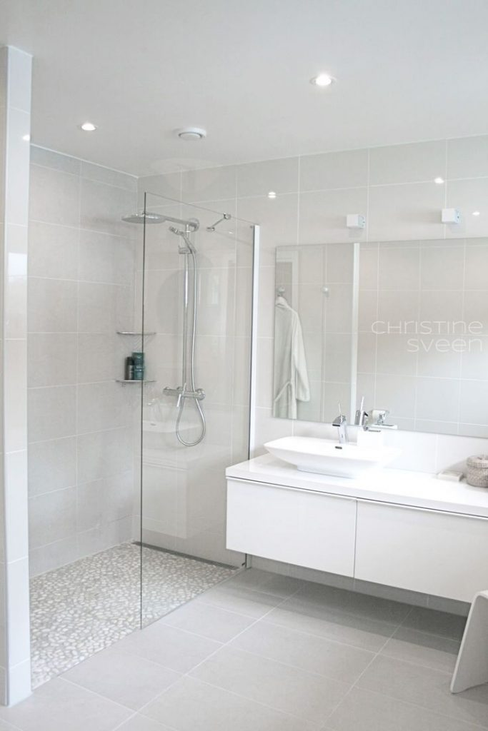 Fresh White Tile Bathroom Ideas Kezcreative Com Within Decor 14