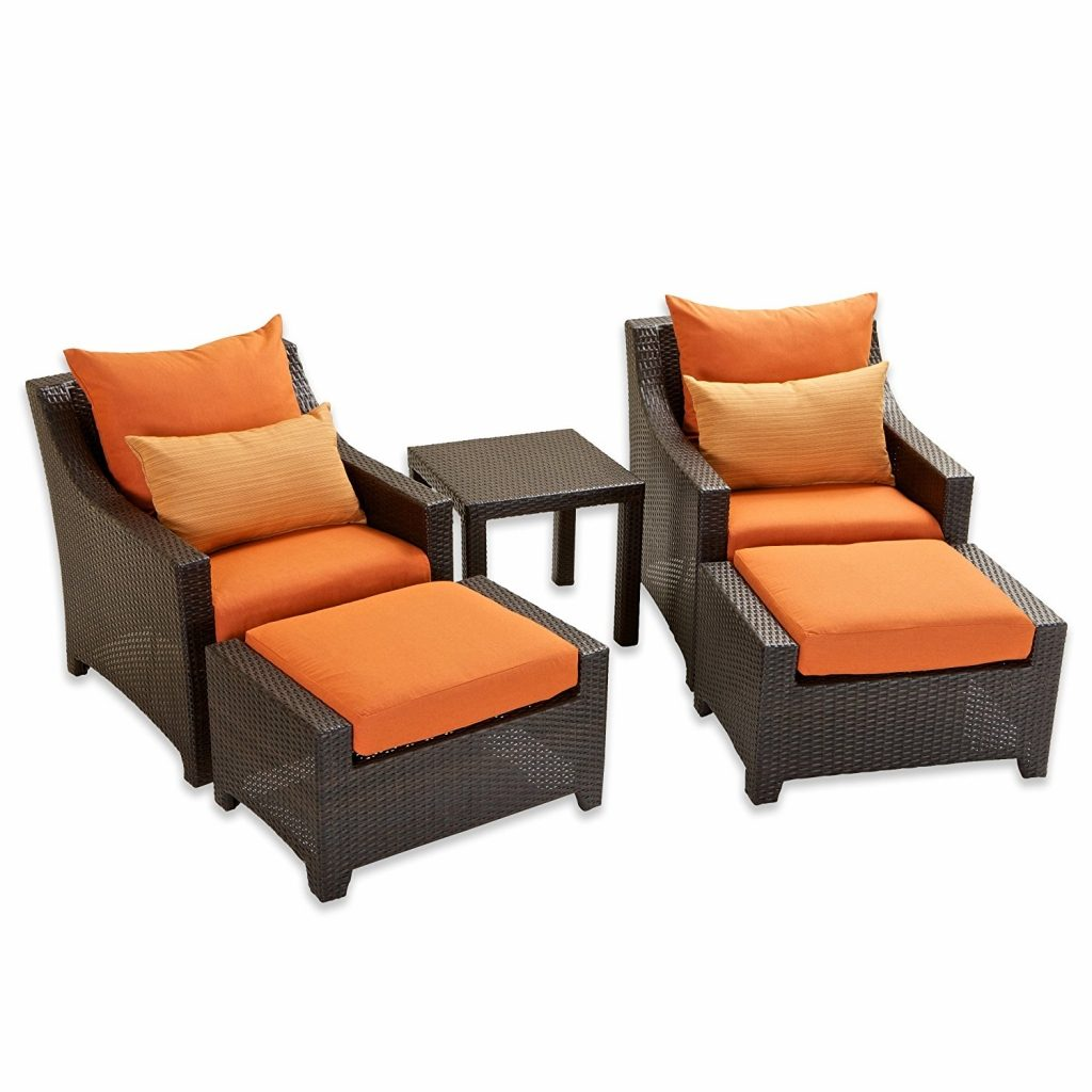 Furniture Elegant Outdoor Chairs With Ottomans Outdoor Armchair