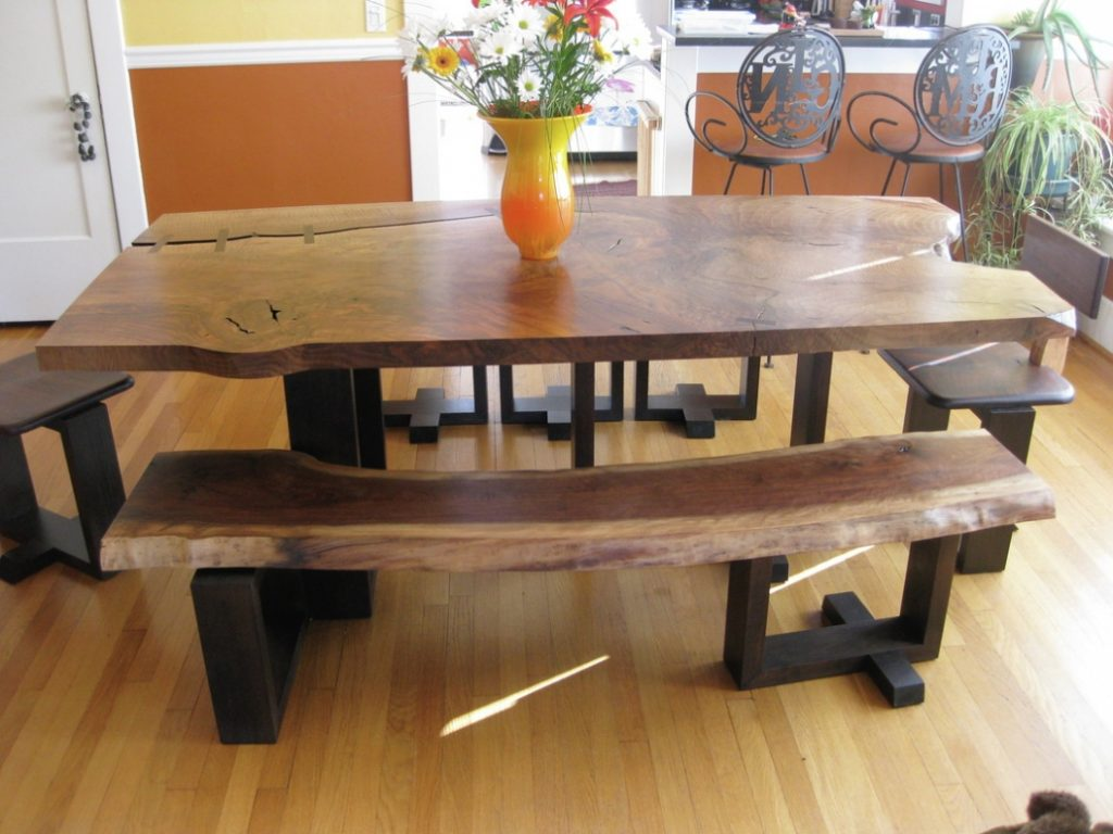 Furniture Most Reclaimed Wood Dining Table Bench Room Tables With